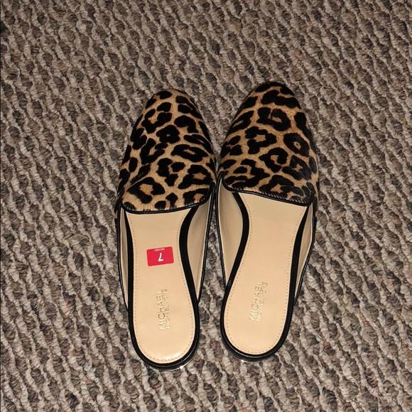 87b7b8124370 MICHAEL Michael Kors Shoes | Michael Kors Leopard Slides | Poshmark